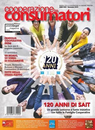 Scarica il sommario rivista NOVEMBRE 2019 Cooperazione Consumatori in formato pdf